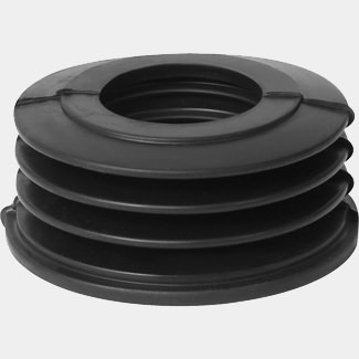 Buildworld 110mm (4 Inch) Black Above Ground Rubber Adaptor - Available in 32 or 40mm