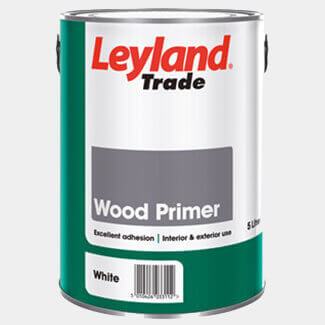 Leyland Trade Wood Primer Paint White - More Container Sizes Available