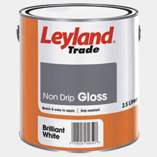 Leyland Trade Non Drip Gloss Paint Brilliant White - More Sizes Available