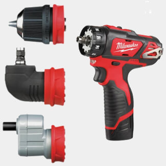 Milwaukee M12 BDDX KIT-202C Removeable Chuck Compact 4in1 Drill Driver system