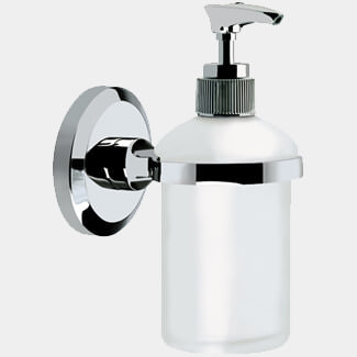 Bristan Solo Wall Mounted Frosted Glass Soap Dispenser