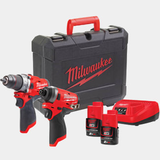 Milwaukee M12 FPP2A-202C FUEL Twin Pack