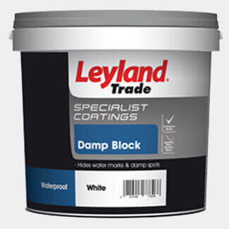 Leyland Damp Block Paint White - More Sizes Available