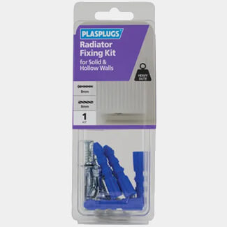 Plasplugs Radiator Fixing Kit For Solid And Hollow Walls