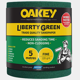 Oakey Liberty Green Sanding Roll - Available Sizes And Variation