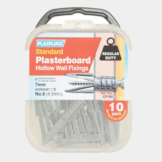 Plasplugs Standard Plasterboard Fixings - Various Packs Available