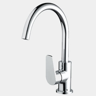 Bristan Raspberry Chrome Kitchen Sink Mixer Tap With EasyFit Base