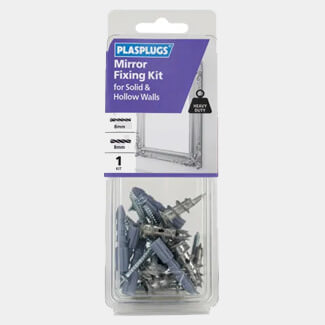 Plasplugs Mirror Fixing Kit For Solid And Hollow Walls