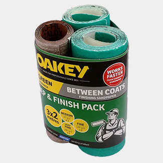 Oakey Assorted 115mm x 2m Prep And Finish - Pack 3