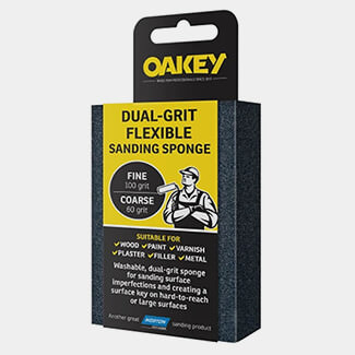 Oakey Dual-Grit Flexible Sanding Sponge Fine Or Coarse