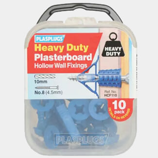 Plasplugs Heavy-Duty Plasterboard Fixings - Various Packs Available