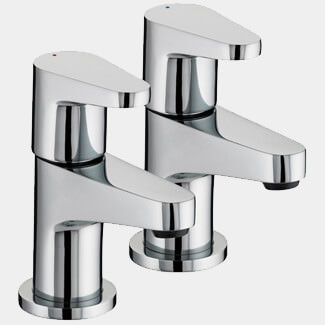 Bristan Quest Deck Mounted Basin Tap Pair