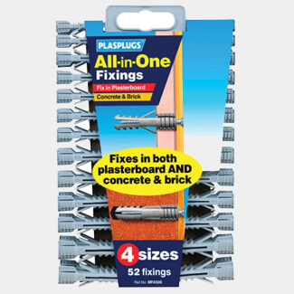 Plasplugs MFA 500 All-In-One Fixings Assorted 52
