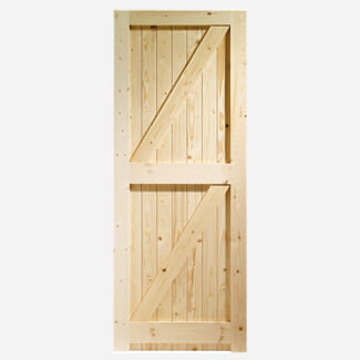XL Joinery Framed Ledged & Braced External Pine Gate Or Shed Door