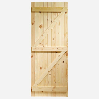 XL Joinery Ledged & Braced External Pine Gate Or Shed Door