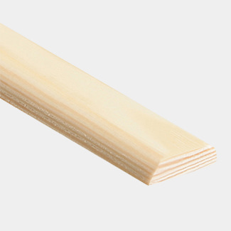 Cheshire Mouldings D Mould Pine Covers and Coving 2400mm Length - Various Sizes Available