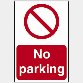 Scan No Parking PVC 200 x 300mm Sign