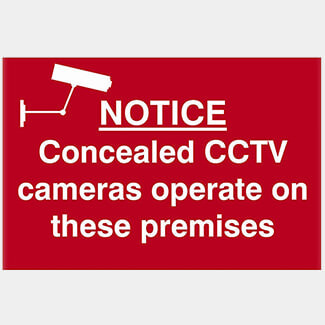 Scan Notice Concealed CCTV Cameras Operate On These Premises Sign
