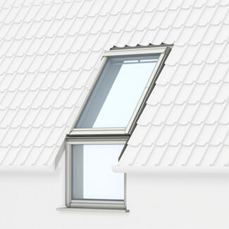 Velux White Painted Sloping And Bottom Hung Vertical Combinations