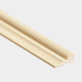 Cheshire Mouldings 8mm Thick Broken Ogee Pine Decorative Mouldings - Various Width And Quantity Available