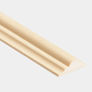 Cheshire Mouldings 2400mm Length Double Astragal Decorative Mouldings Pine - Various Sizes And Quantity Available