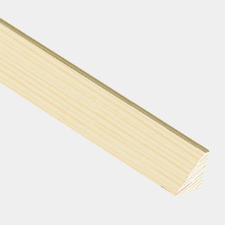 Cheshire Mouldings Wedge Glass Bead Pine L 2400mm - Various Sizes Available