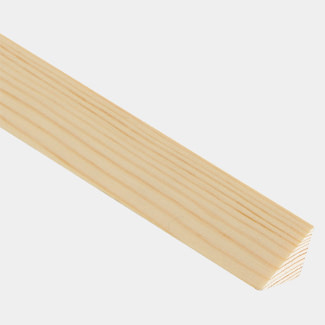 Cheshire Mouldings Triangle Glass Bead Pine L 2400mm - Various Sizes Available