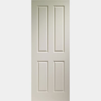 XL Joinery Internal White Moulded Victorian 4 Panel Fire Door