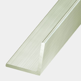 Rothley Aluminium Equal Sided Chrome Effect Angle 15mm x 1 Metre Length