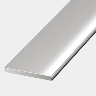 Rothley Stainless Steel Effect Aluminium Flat Bar - 20 x 2mm x 1 Mitre