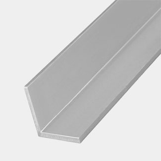 Rothley Stainless Steel Effect Aluminium Equal Sided Angle - 15mm x 1 Mitre