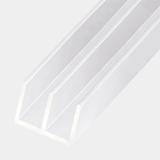 Rothley PVC E Moulding Guide Rail Profile White - Various Sizes Available