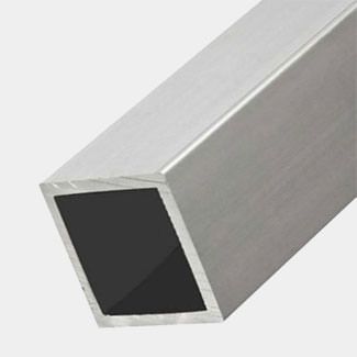 Rothley Anodised Aluminium Square Tube 1 Meter Length - Various Sizes Available