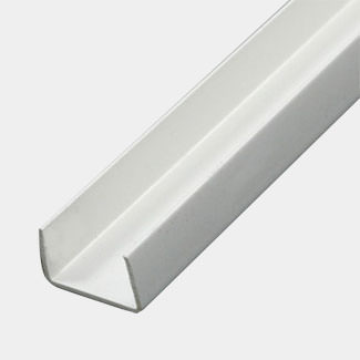 Rothley PVC U Profile White 1 Mtr Length - Various Sizes Available