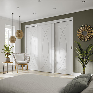 XL Joinery White Door Double Top Wardrobe Frame (Inc Hardware Kit) - Various Panels Available