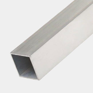 Rothley Trims Uncoated Alumminum Square Tube - 1 Mitre Length - Various Sizes Available