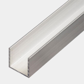 Rothley Trims Uncoated Alumminum U Square Profile - Various Sizes And Lengths Available