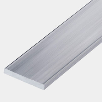 Rothley Uncoated Alumminum Flat Bar - 1 Mitre Length - Various Sizes Available
