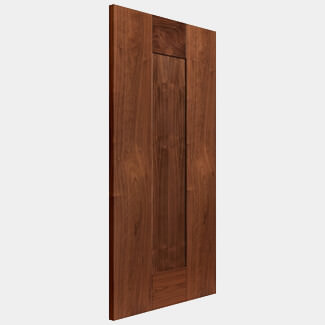 JB Kind 1981mm-Height x 44mm-Thick Internal Walnut Fully Finished Axis Solid Fire Door - Various Width Available