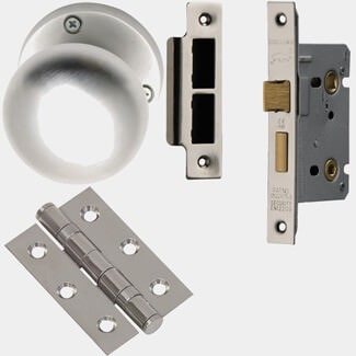 XL Joinery Elbe Bathroom Door Knob Handle Pack - Various Pack Available