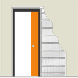 JB Kind Sliding Single Pocket Door System for Doors - More Sizes Available