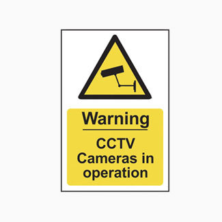 Scan Safety Sign Warning CCTV Cameras In Operation