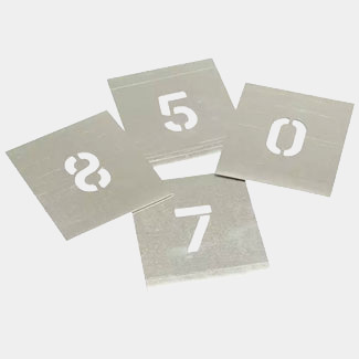 Stencils Set Of Non Interlocking Zinc Stencils