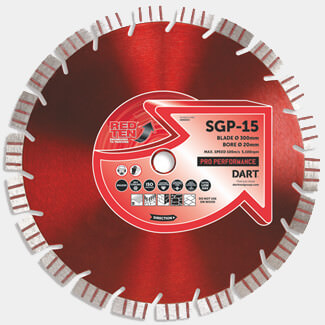 Dart Red Ten SGP-15 Concrete Diamond Blade - More Sizes Available