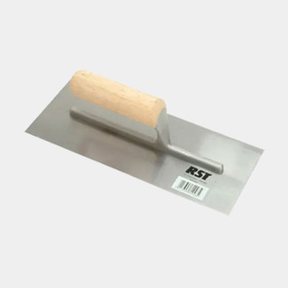 RST Tools Plasterers Finishing Trowel Straight Wooden Handle