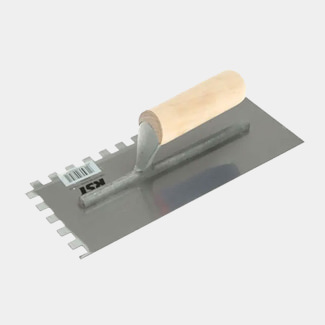 RST Tools Notched Trowel 10mm Square Notches Wooden Handle
