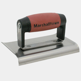Marshalltown 6 x 3 Inch Cement Edger With Durasoft Handle