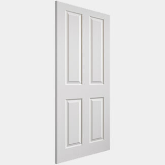 JB Kind White Primed Canterbury 4P FD30 Door - More Sizes Available