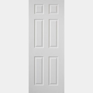 JB Kind Colonist Moulded Interior Primed Grained Fire Doors With Six Panels - Various Size Available