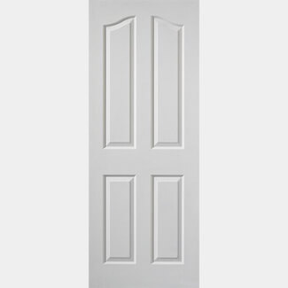 JB Kind Edwardian White Moulded Interior Primed Fire Doors - Various Size Available